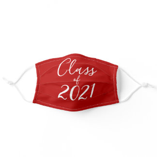 Class of 2021 Senior High School Graduate Red Adult Cloth Face Mask