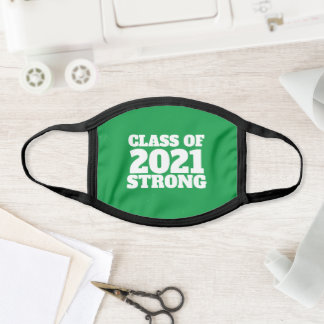 Class of 2021 strong green senior year face mask