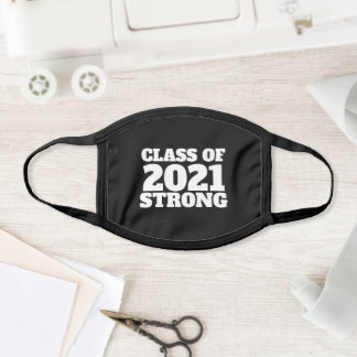 Class of 2021 strong senior year black face mask