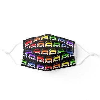 Classic Austin Mini Cooper Rainbow Adult Cloth Face Mask