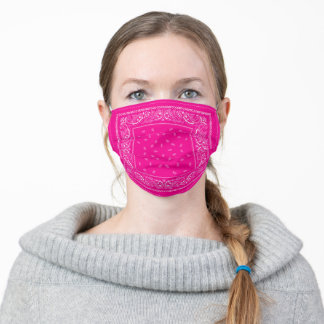 Classic Bandana Kerchief - Hot Pink Adult Cloth Face Mask