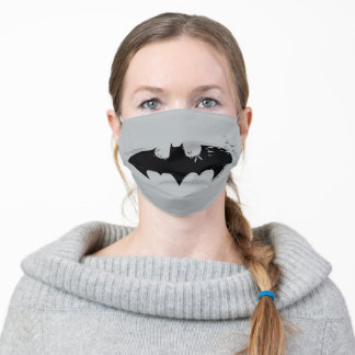 Classic Batman Logo Dissolving Into Bats Adult Cloth Face Mask