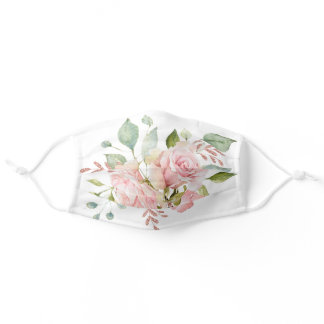 Classic Botanical Roses Adult Cloth Face Mask