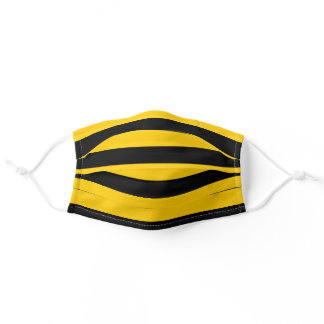 Classic Bumblee Bee Honey Bees Stripes Striped Adult Cloth Face Mask