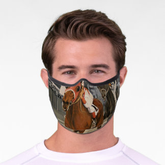 Classic Horse Race Seabiscuit Beats War Admiral Premium Face Mask