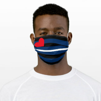 Classic Leather Pride Flag Adult Cloth Face Mask