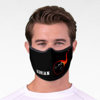 Classy bowling Ball Sports Personalized Premium Face Mask