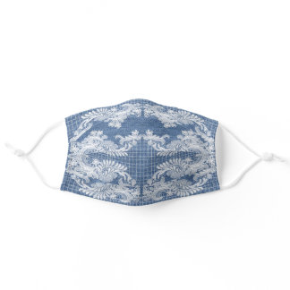 Classy Denim and Lace Adult Cloth Face Mask