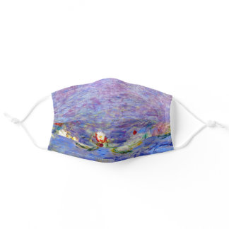 Claude Monet famous artwork Water Lilies Adult Cloth Face Mask