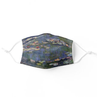 Claude Monet Impressionist Water Lillies Nympheas Adult Cloth Face Mask