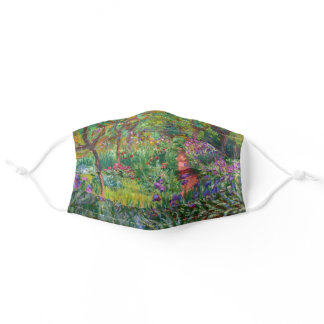 Claude Monet Iris Garden At Giverny Impressionism Adult Cloth Face Mask