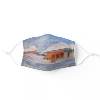 Claude Monet - Norway, Red Houses at Bjornegaard Adult Cloth Face Mask
