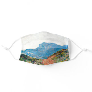 Claude Monet The Corniche near Monaco Adult Cloth Face Mask