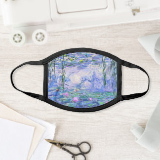 Claude Monet Water Lilies French Impressionist Art Face Mask