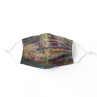 Claude Monet - Water Lily pond, Pink Harmony Adult Cloth Face Mask