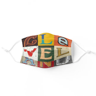 CLEVELAND! colorful Squared Adult Cloth Face Mask