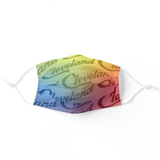CLEVELAND SCRIPT, Primary Colors 2 Adult Cloth Face Mask