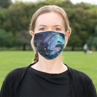 Cloth Face Mask with Filter Slot Magical Mushrooms
