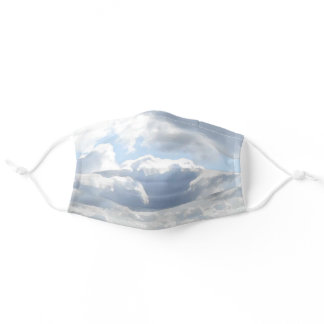Clouds in Blue Sky Adult Cloth Face Mask