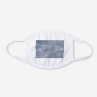 Cloudy Sky White Cotton Face Mask