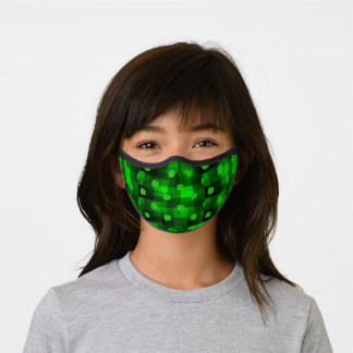 clover green checkered premium face mask