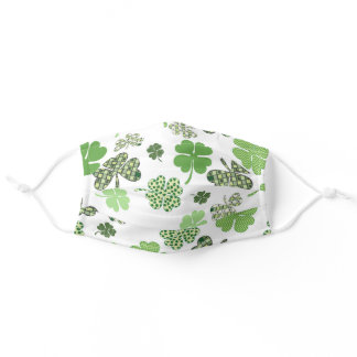 Clover Shamrock St. Patrick's Day Green Adult Cloth Face Mask