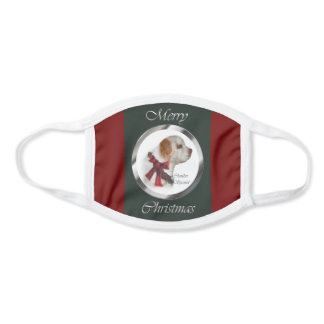 Clumber Spaniel Christmas Face Mask