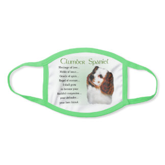 Clumber Spaniel Face Mask