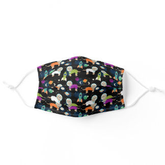 cockapoo space dogs pattern adult cloth face mask