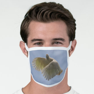 Cockatoo Bird Parrot Animal Fly Sky Australia Face Mask