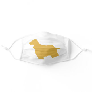 Cocker  spaniel  silhouette adult cloth face mask