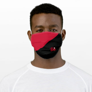 Cocky the Gamecock Color Block Adult Cloth Face Mask