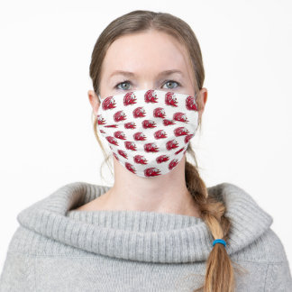 Cocky the Gamecock White Pattern Adult Cloth Face Mask