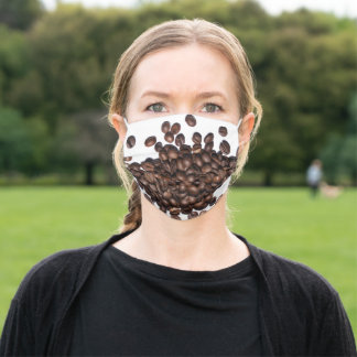 Coffee Beans Adult Cloth Face Mask