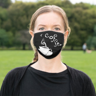 coffee curls adult cloth face mask