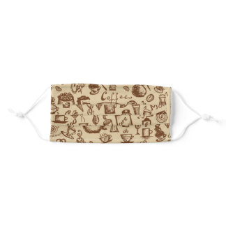 Coffee TIme Facemask Adult Cloth Face Mask