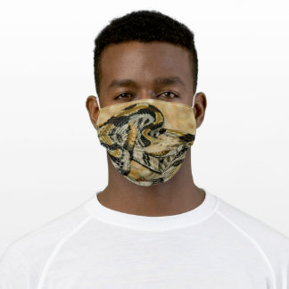 Coiled Timber Rattlesnake Adult Cloth Face Mask