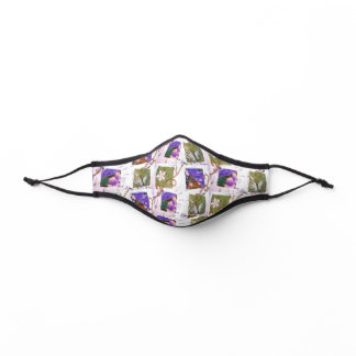 Collage Butterfly Glitter Vines Premium Face Mask