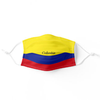 Colombia flag adult cloth face mask