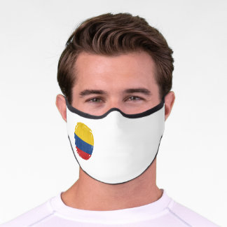Colombia flag, Colombian Grunge , Mapa, Colombian Premium Face Mask