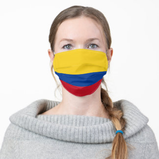 Colombia Flag Colombian Patriotic Adult Cloth Face Mask