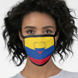 Colombia Heart & Colombian Flag Mask / fashion