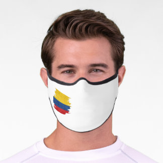 Colombian, Colombia flag, Colombia Bandera, Colom Premium Face Mask