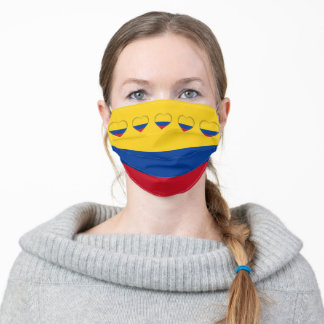 Colombian Flag & Hearts Mask - Colombia/sport fans