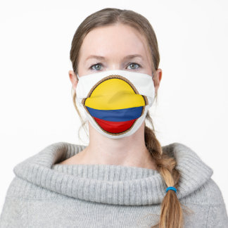 Colombian Flag Seal Adult Cloth Face Mask