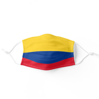 Colombian Flag World Flags Colombia Adult Cloth Face Mask