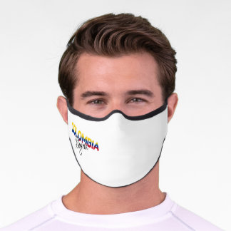 Colombiano, graphic, letters, Colombia, Colombian Premium Face Mask