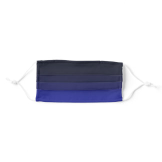 Color Gradient Cloth Face Mask - Midnight Blue