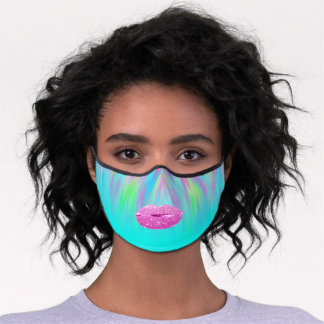 Colora To Heal Therapeutic Kiss Lips Makeup Pink Premium Face Mask