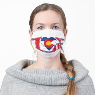 Colorado Flag and LOVE Adult Cloth Face Mask